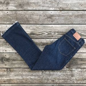 J. Crew Raw Hem Billie Demi Boot Crop 27 Tall